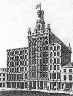 William L. Johnston's last work was the eight-story prototype skyscraper for Dr. David Jayne, who with his son produced patent medicines. Johnston died in 1849 while the building was under construction.