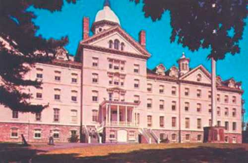 """""""Old Main,"""" the 1882 centerpiece of the Widener University campus, was designed and completed by Crump in a record-breaking seven months. Fire destroyed the first structure he designed 15 years earlier.  (c ourtesy: Widener University, Chester, PA)"""