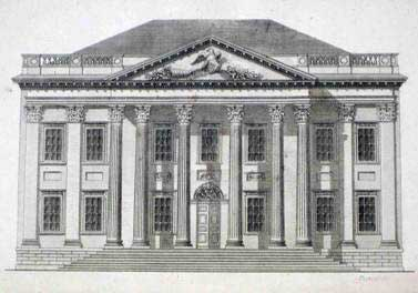 "Owen Biddle's  meticulous elevation of the Bank of the United States is one of 44 plates in his landmark book, ""The Young Carpenter's Assistant."" In 1804, two years before his death at age 32, Biddle proposed a novel idea to the Company — a school to teach architecture. A committee studied the plan, distributed copies to the membership, which at a special meeting voted it down."