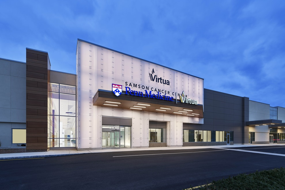 Virtua Samson Cancer Center, formerly a supermarket, was transformed into a 66,000 square feet cancer center. Located in Moorestown, New Jersey, it offers radio oncology, an infusion treatment suite, a cancer administrative suite, and a third party infusion practice.