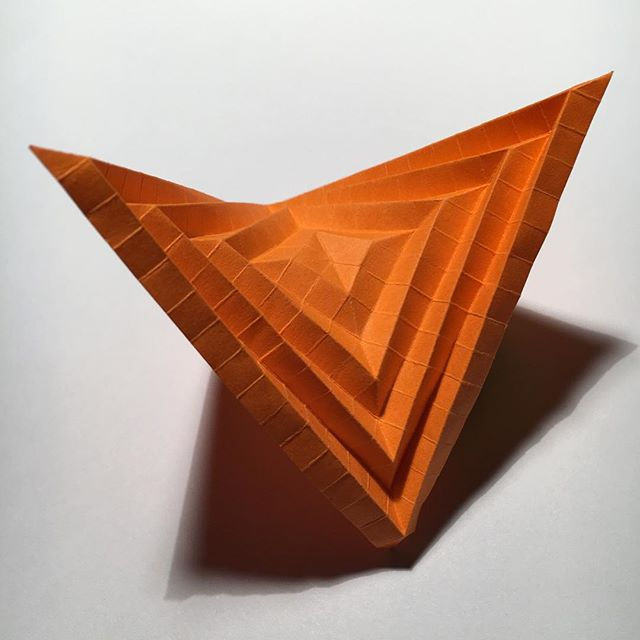 An origami hyperbolic paraboloid. #mathscraftnz
