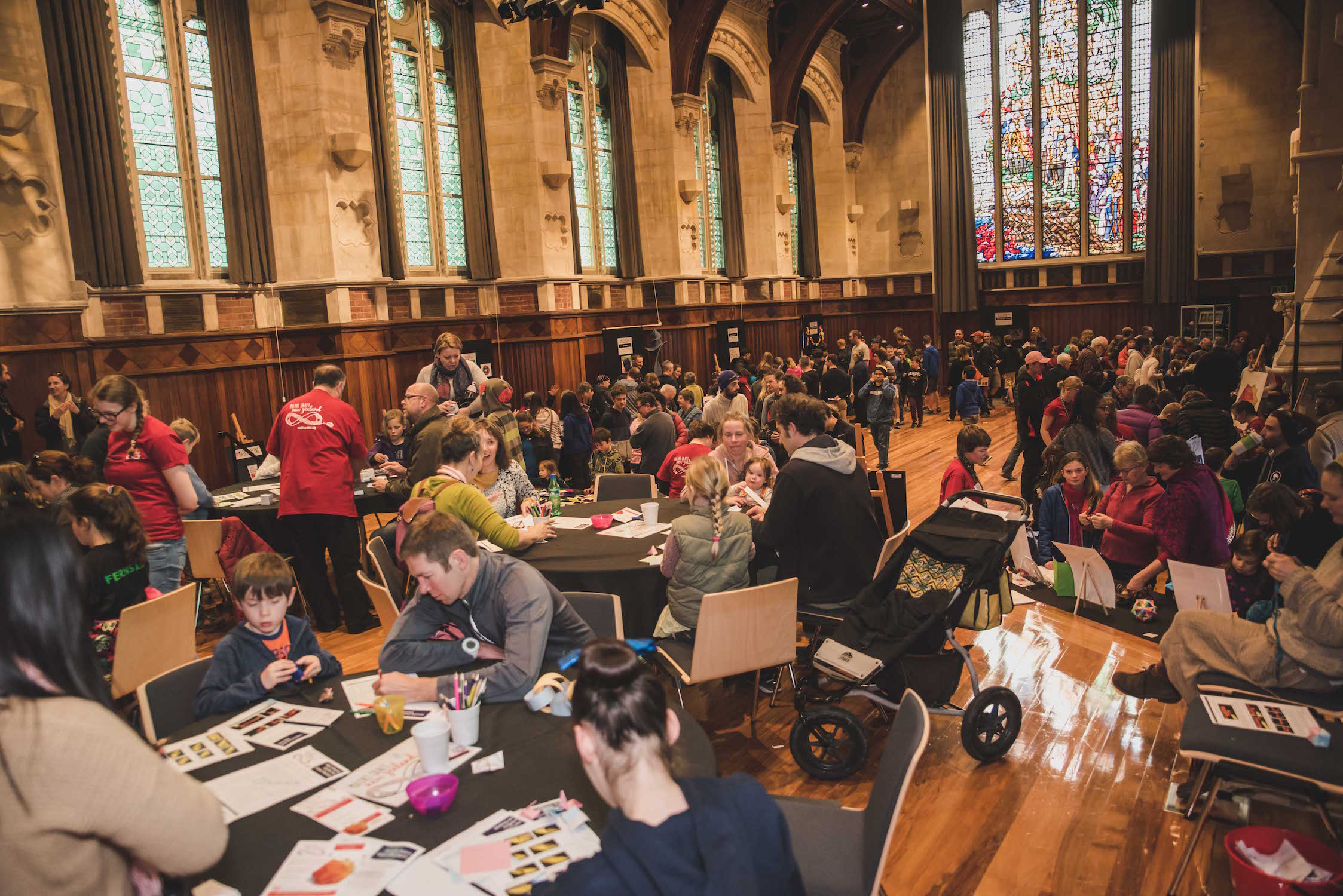 Christchurch Maths Craft Day 2017 in The Great Hall at the Arts Centre