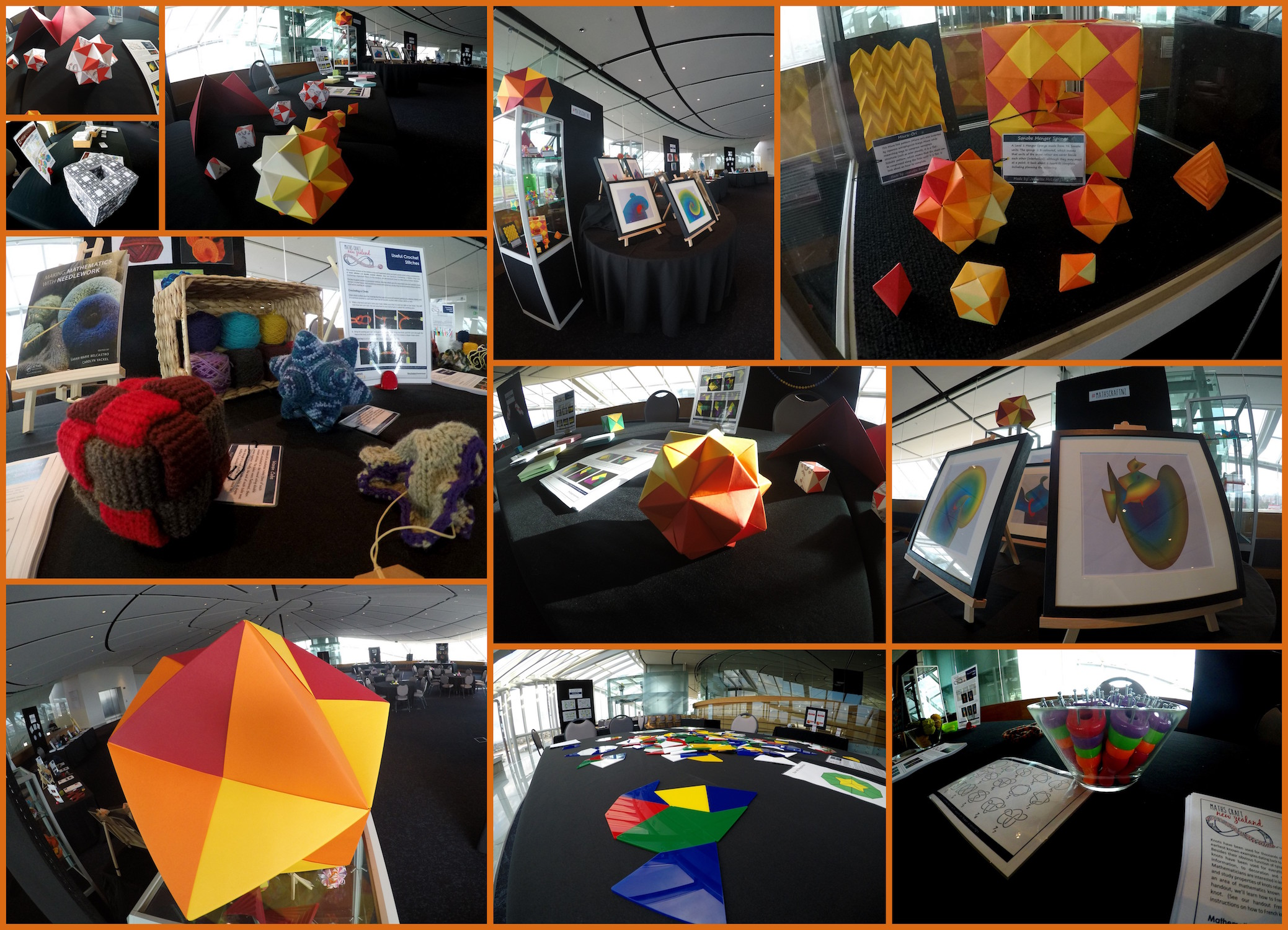Set up and ready to welcome visitors to the Maths Craft Festival 2017 in Auckland