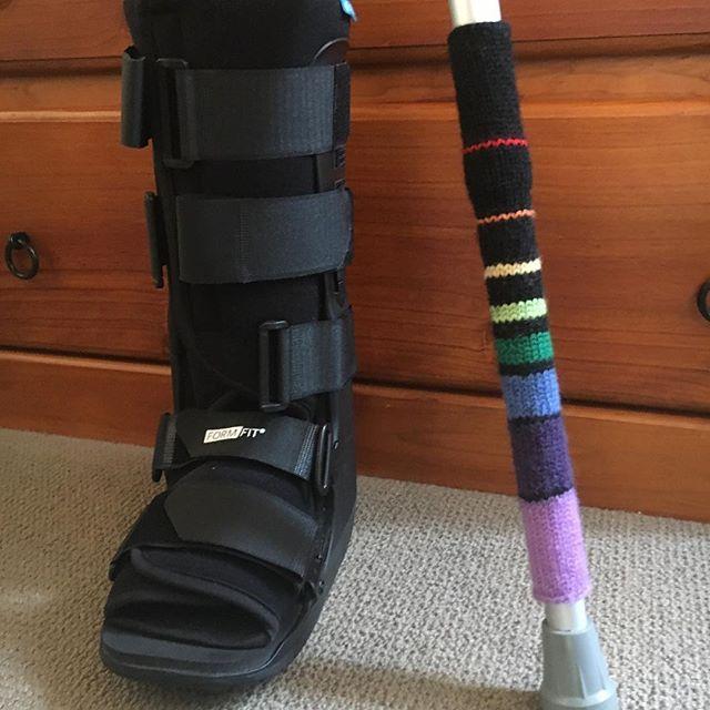 A Fibonacci sock for my crutch.