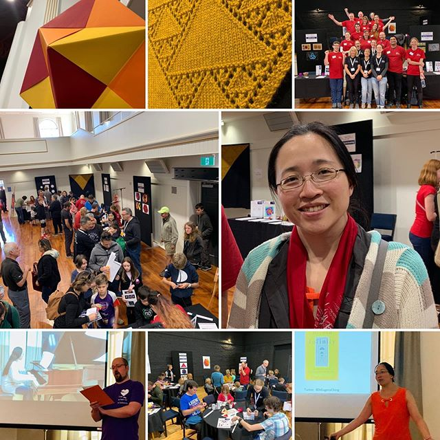 The Martinborough Maths Craft Day was so much fun! Thank you to our wonderful volunteers, our amazing special guest Eugenia Cheng, and the warm, welcoming and helpful folks in Martinborough! . #mathscraftnz #mathematics #mathsart #mathscraft #lovemaths #martinborough #stemeducation
