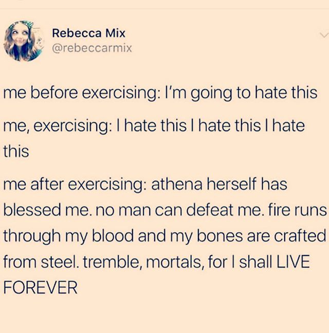 "Hahaha there's something incredible about feeling strong and capable 🤣. A boxing coach of mine most recently said ""you're not working until you're hurting"". It's honestly spot on. Get ready to work today and this week y'all ... maybe you will feel like Athena herself or a Spartan 🤣 💪🏽 #sundayvibes #sundaymorning"