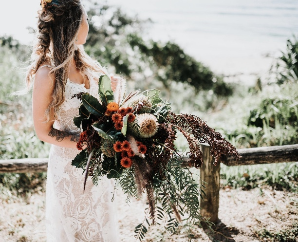wild foliage bouquet - A beautiful combination of seasonal textured natives, grasses and blooms.