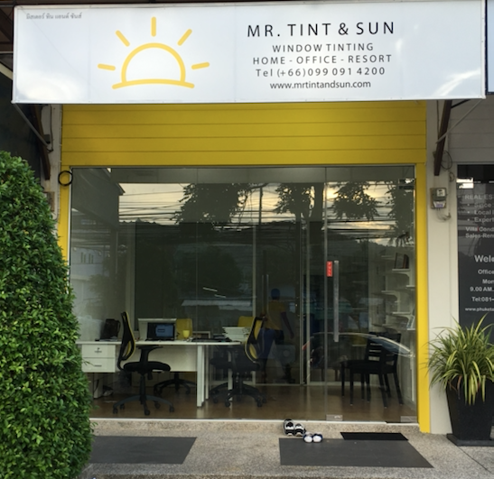 MR TINT AND SUN WINDOW TINTING PHUKET - FRONT VIEW