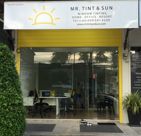 MR TINT AND SUN WINDOW TINTING PHUKET - FRONT VIEW