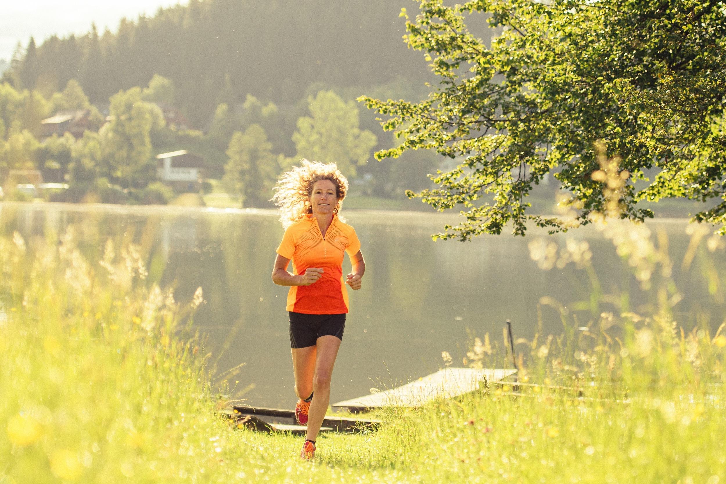 Lauftraining um den Maltschacher See
