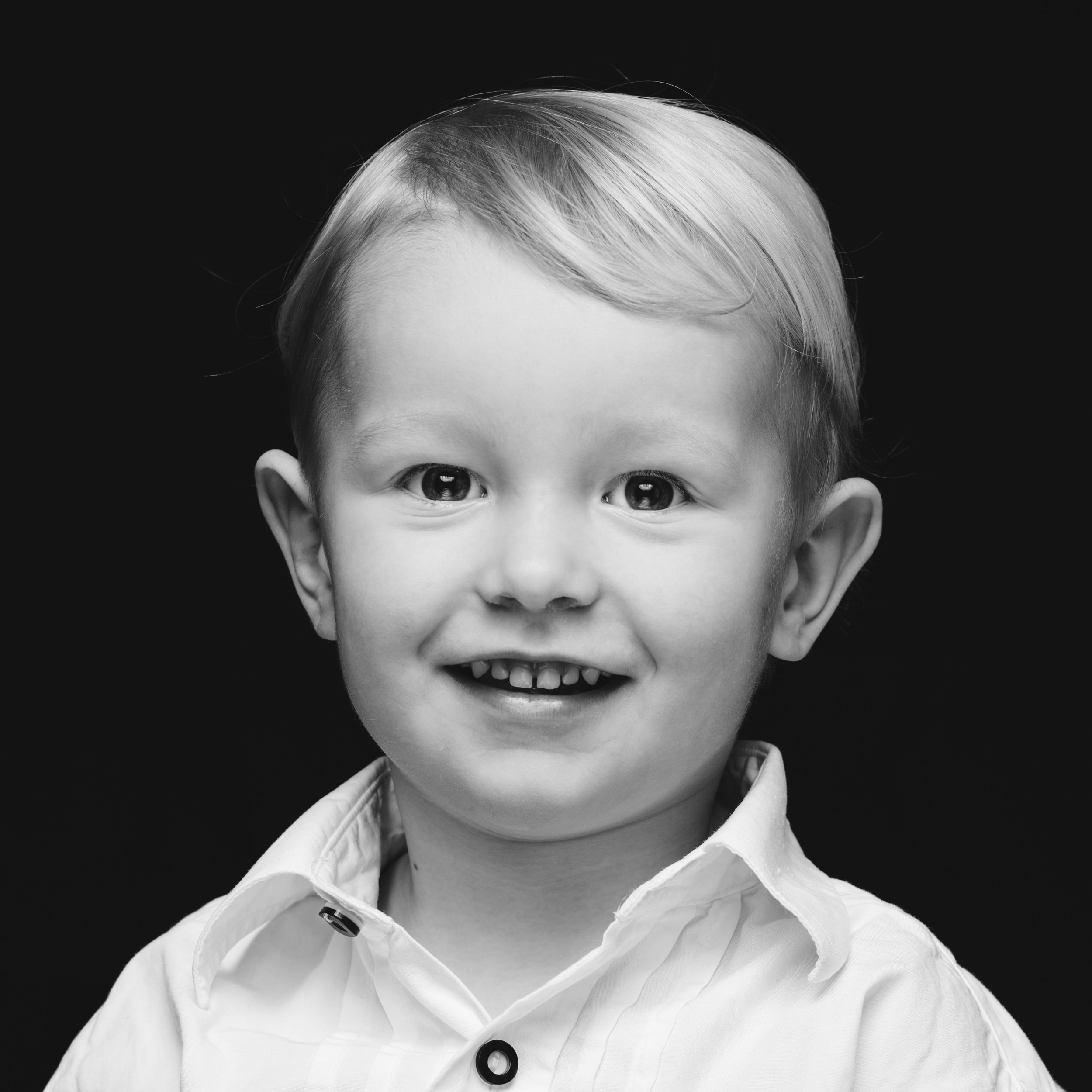 Familienportrait Schwarz Weiss