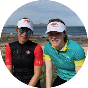 athletes smiling on tri camp in mallorca