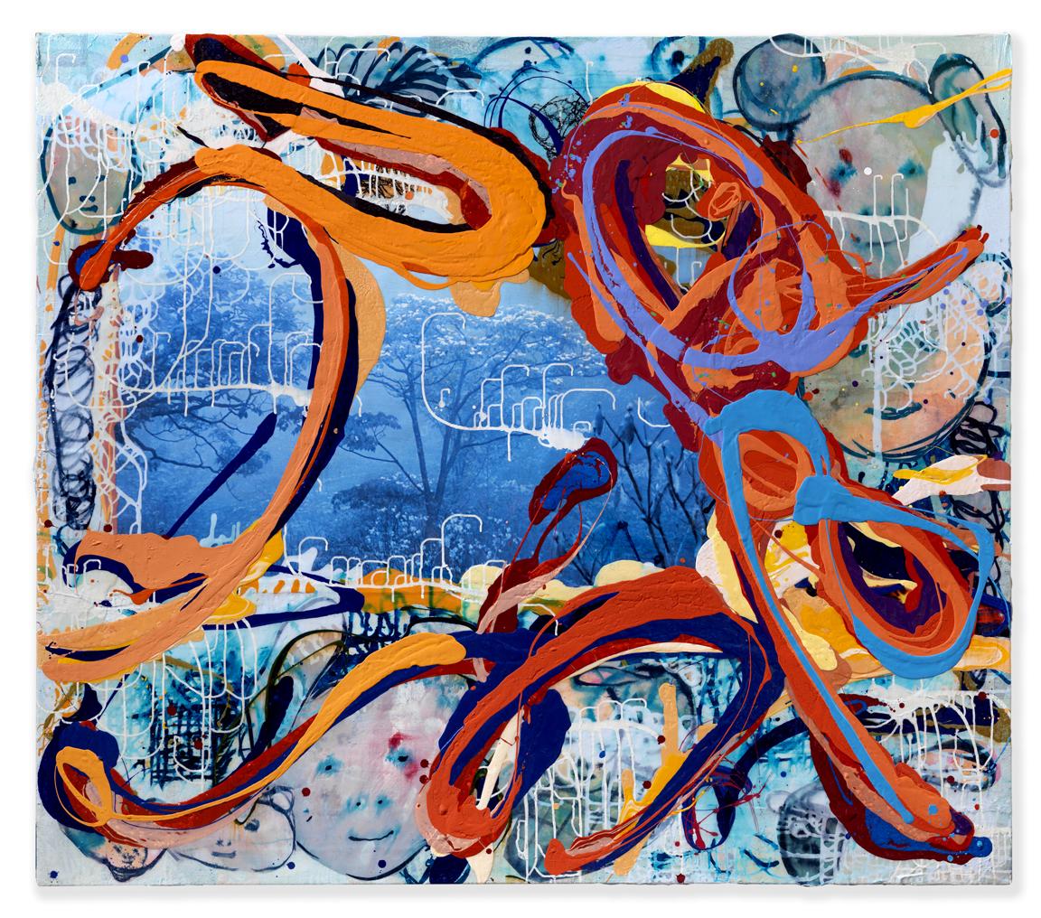 """YuYu Blue Mountain, 2014, 62x72"""""""