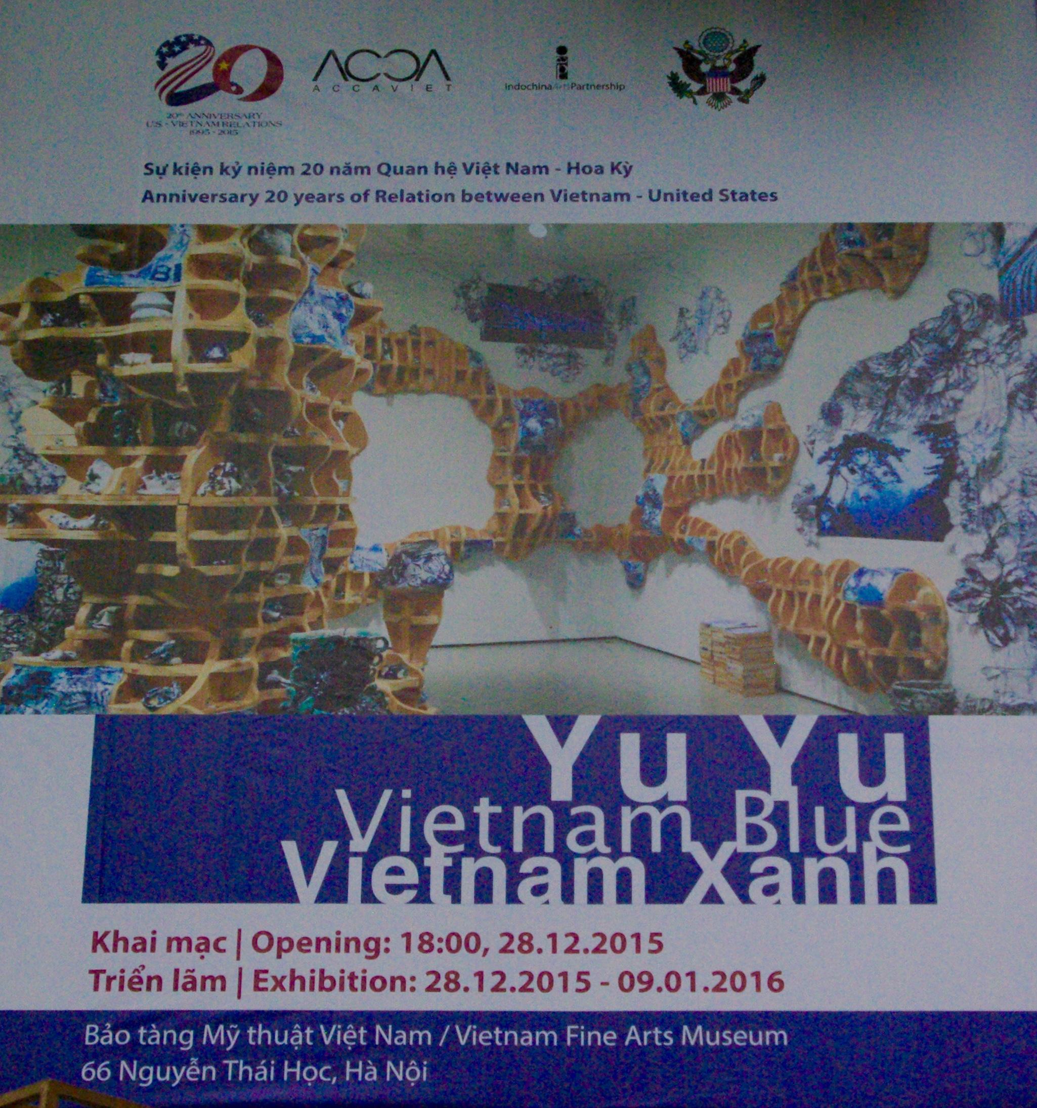 Yu Yu Vietnam Blue, National Museum in Hanoi, 2015