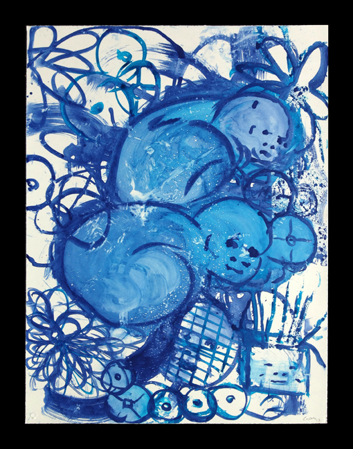 Lulu Blue I, 2014, 36x24