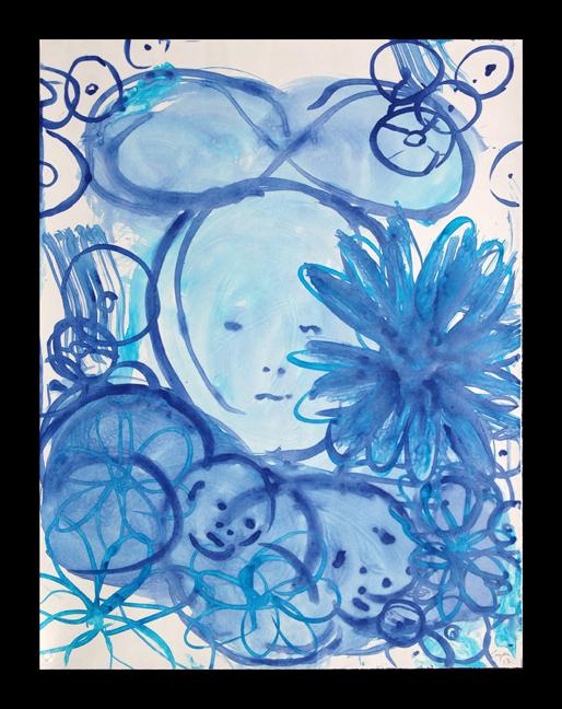 Lulu Blue V, 2014, 36x24