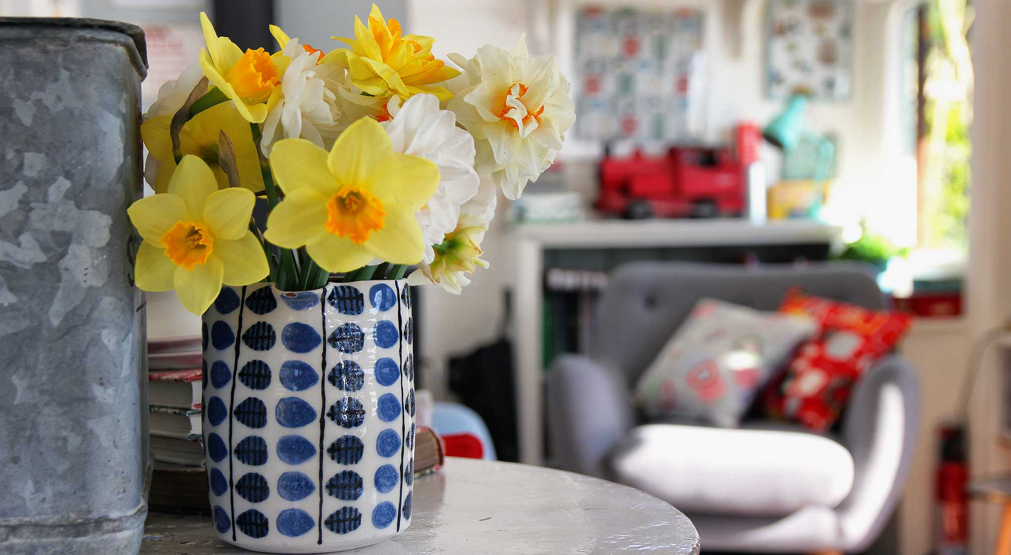 Interior-Daffodils with train.jpg