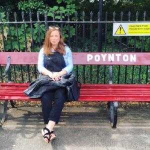 Jess in tantrum mode at the long long walks around my hometown of Poynton