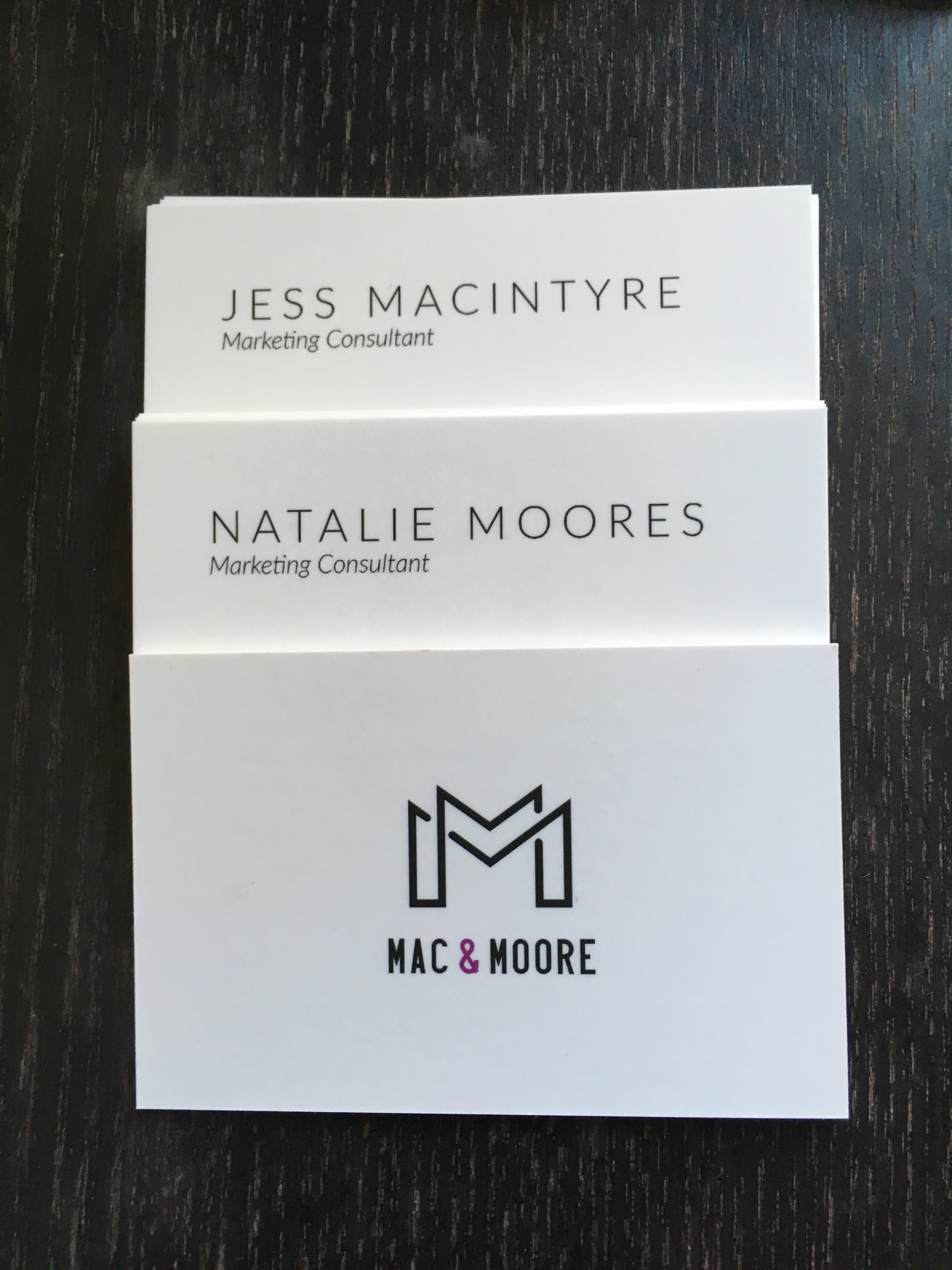 Being able to hand out beautiful business cards really helps psychologically with confidence!