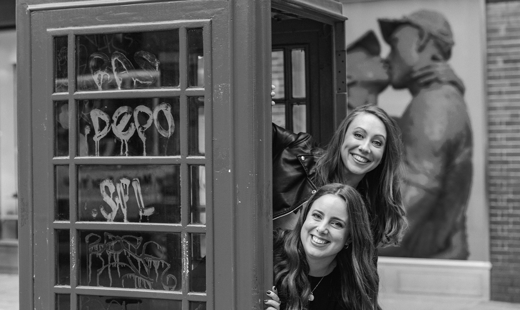 When we're not strategising and writing you'll often find us lurking around in phone boxes...
