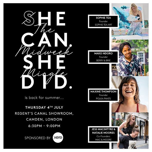 We are so privileged and excited to have been asked by the amazing @shecanshedid to feature on their next midweek mingle panel! 🙋🏻‍♀️🙆🏻‍♀️ And WHAT a line up it is! London - we hope you're ready for us! • • We would LOVE to see you there and promise to give you a full, frank and open view into the world of running a service based business. Plus of course a natter over a cheeky gin or two... Love Jess & Nat xox ❤️