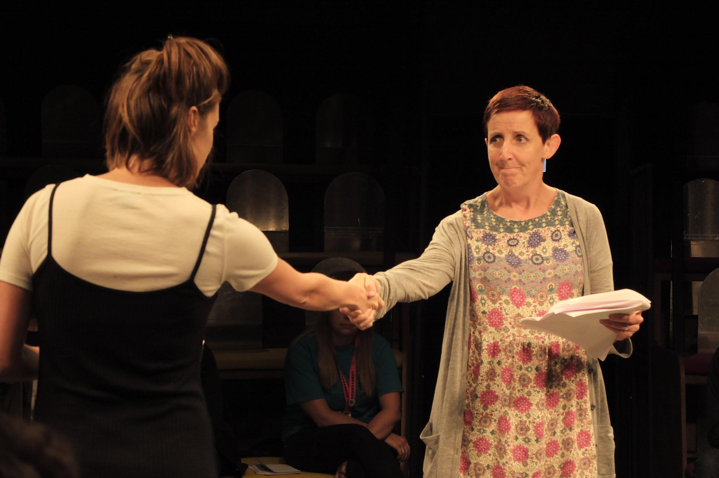 Olivia Sweeney and Julie Hesmondhalgh