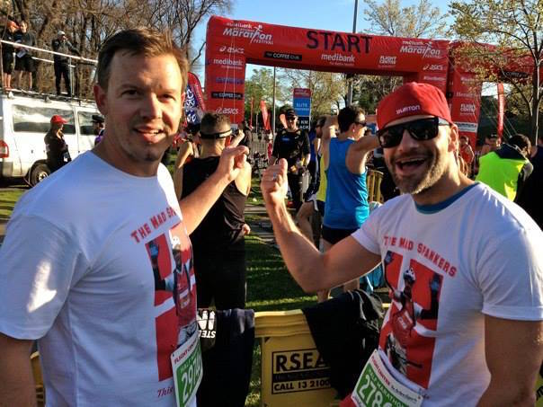 THE 'MAD SPANKERS' - RUNNING THE 2014 MELBOURNE HALF MARATHON IN HONOUR OF OUR BUDDY