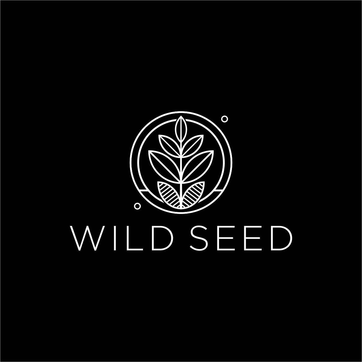 Wild Seed logo by The EMMS - On Black