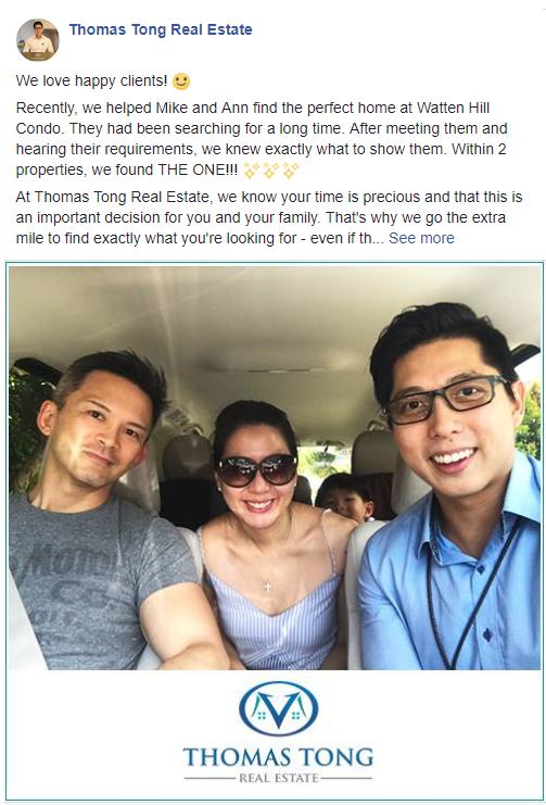 Thomas Tong Real Estate Facebook Post Example