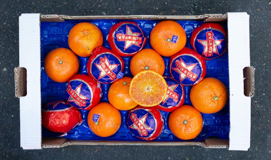 Blood - Mandarin - Blood mandarins are rare and these are exceptional quality: extremely juicy and with an attractive red blush. Italian season approx. Jan-Feb.