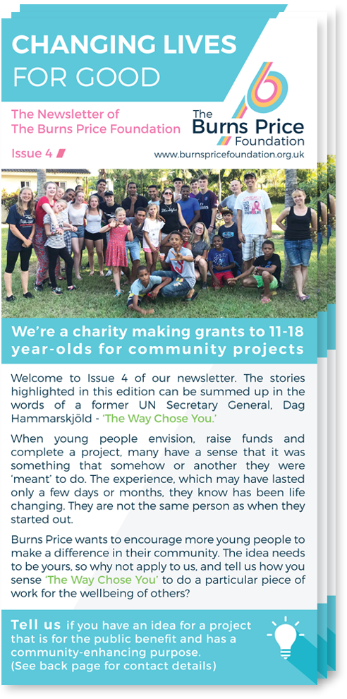 Download Issue 4 of The Burns Price Foundation Newsletter