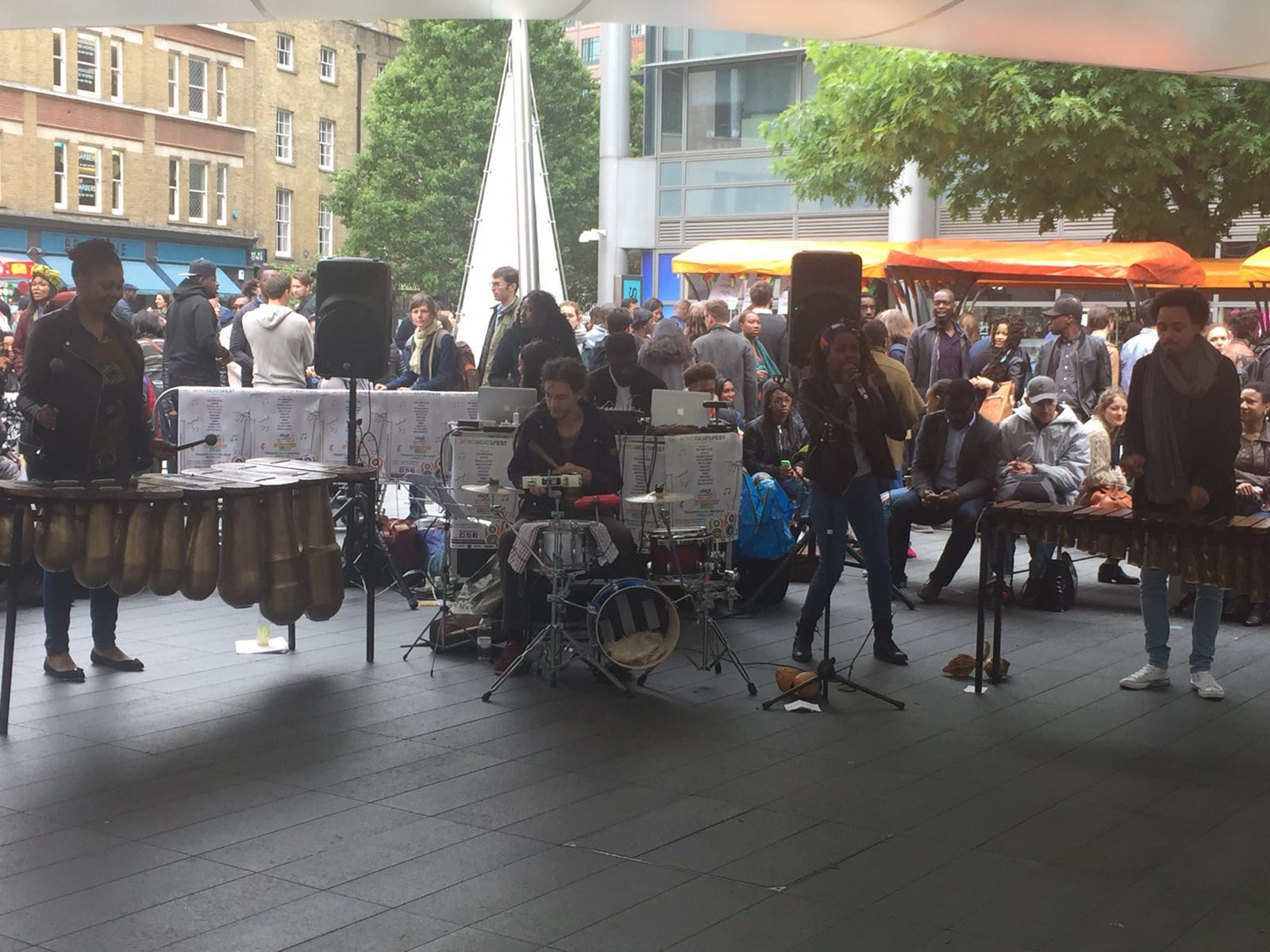 African Marimba Band At Pop Up Africa Spitalfields Market