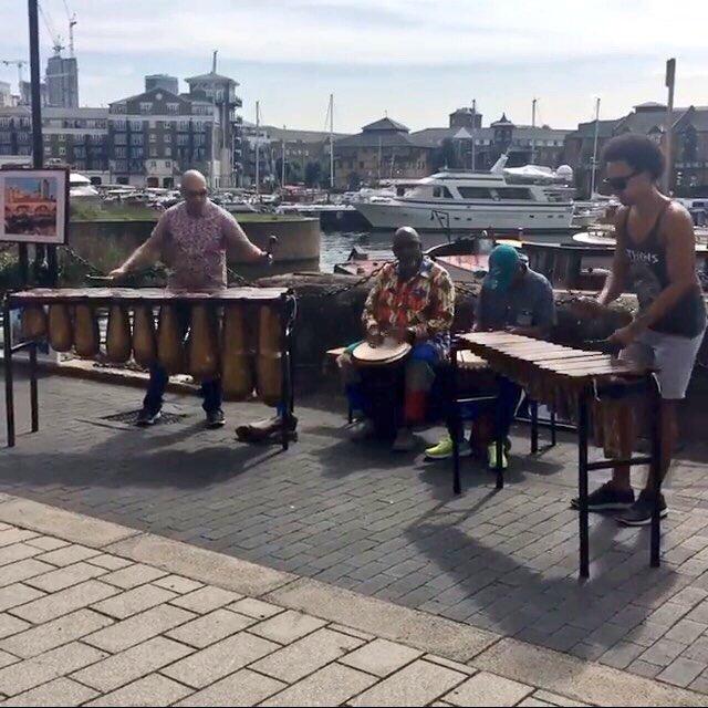 Performing on Saturday morning at Limehouse Basin Social Market