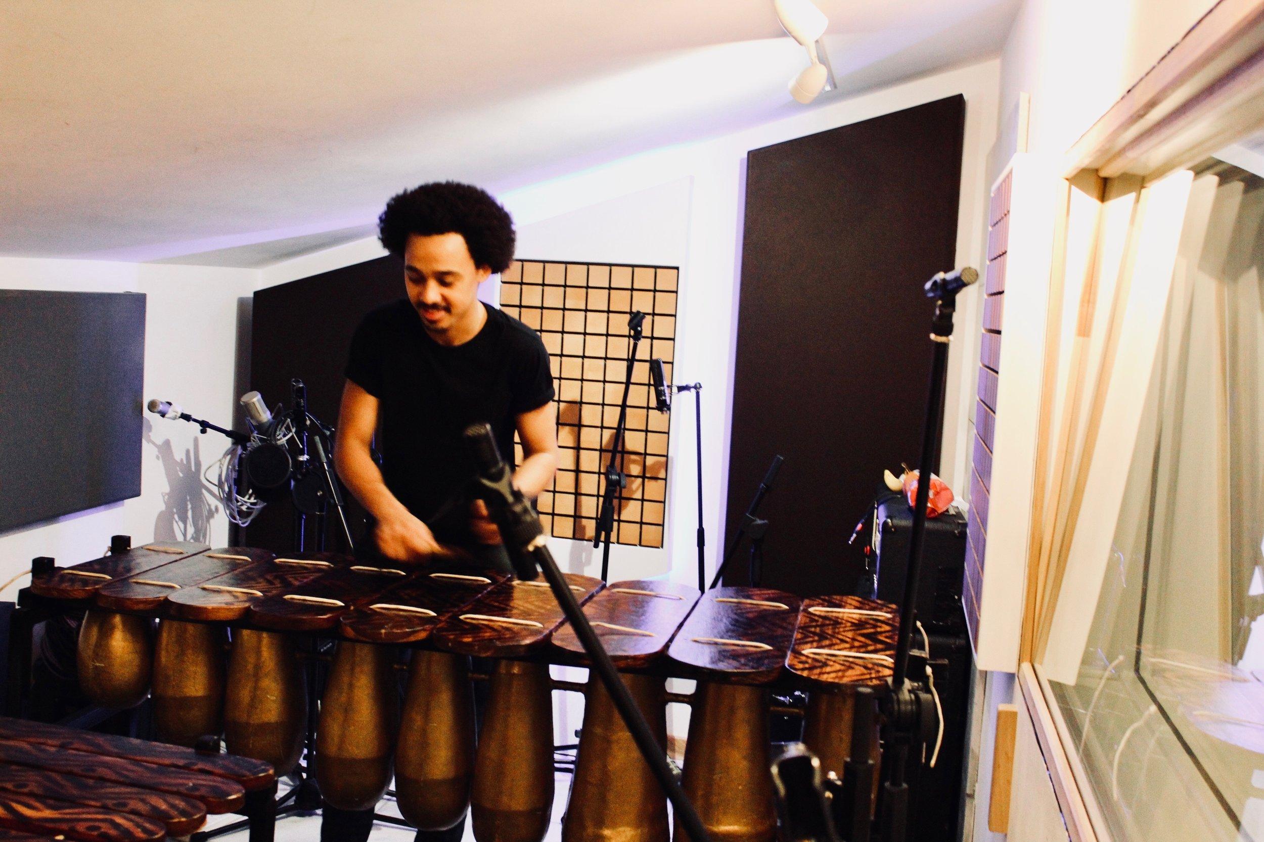 Blue Studios Dalston - Marimba Band Recording
