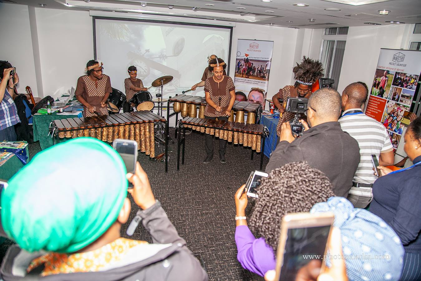 Otto And The Mutapa Calling - African Marimba Band - Botswana Independence Day Event, Wesley Euston Hotel, London, United Kingdom