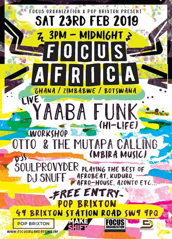 Focus Africa Pop Brixton Otto And The Mutapa Calling