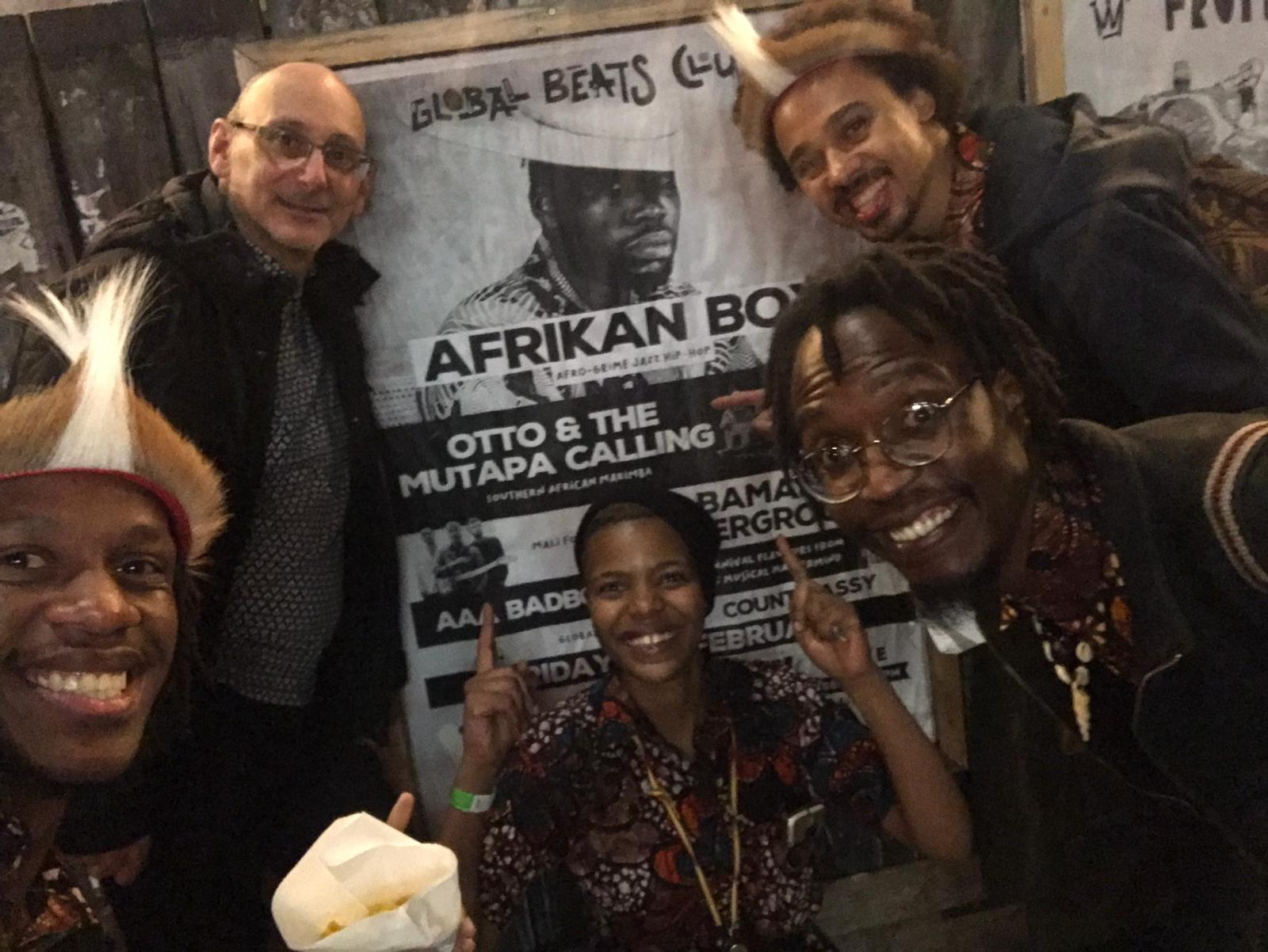 Otto And The Mutapa Calling with Bamako Underground at Global Beats Club Hootananny Supportung Afrikan Boy