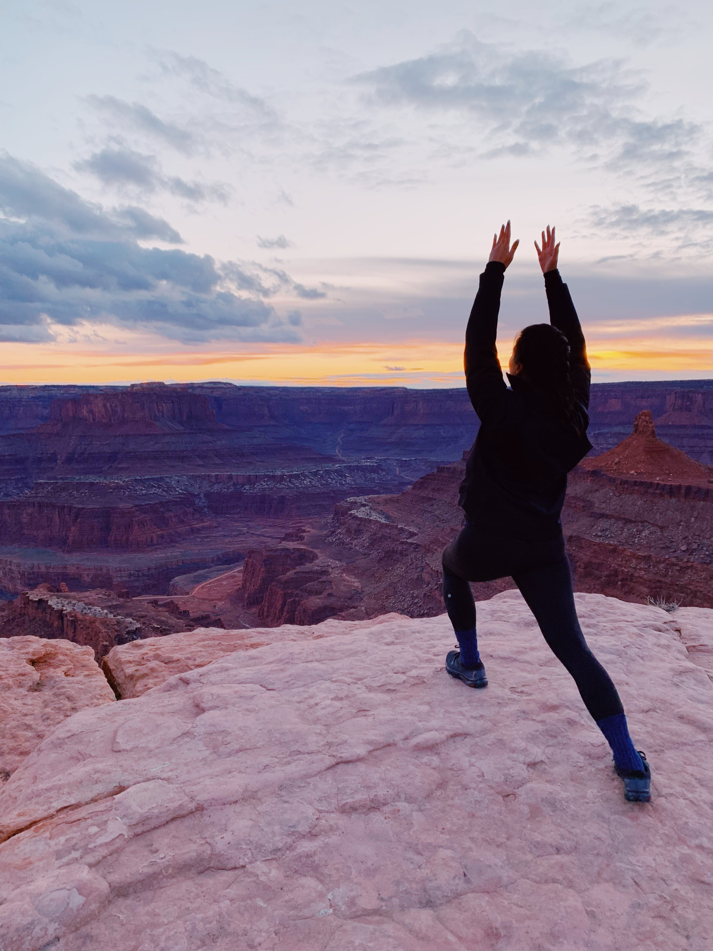 Obligatory random yoga pose @ Dead Horse Point