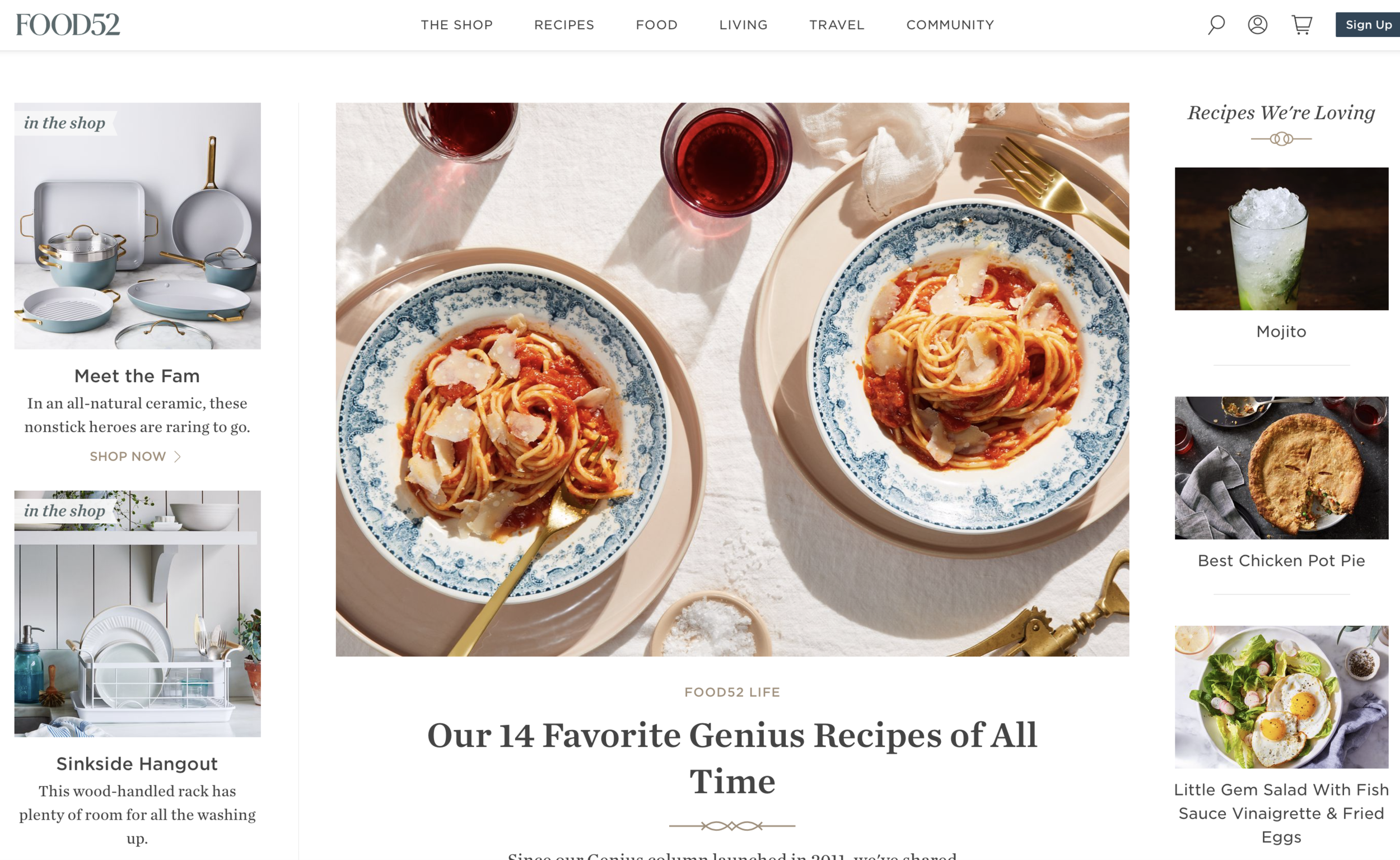 Food52 - Food 52 is similar to The kitchn but a bit more sophisticated if I may say! It's good to read it once a week or when you're receiving (or if you're one of those those really really weird people who love their kitchen! WEIRD!), it's like a kitchen magazine covering everything also related to umm kitchen…