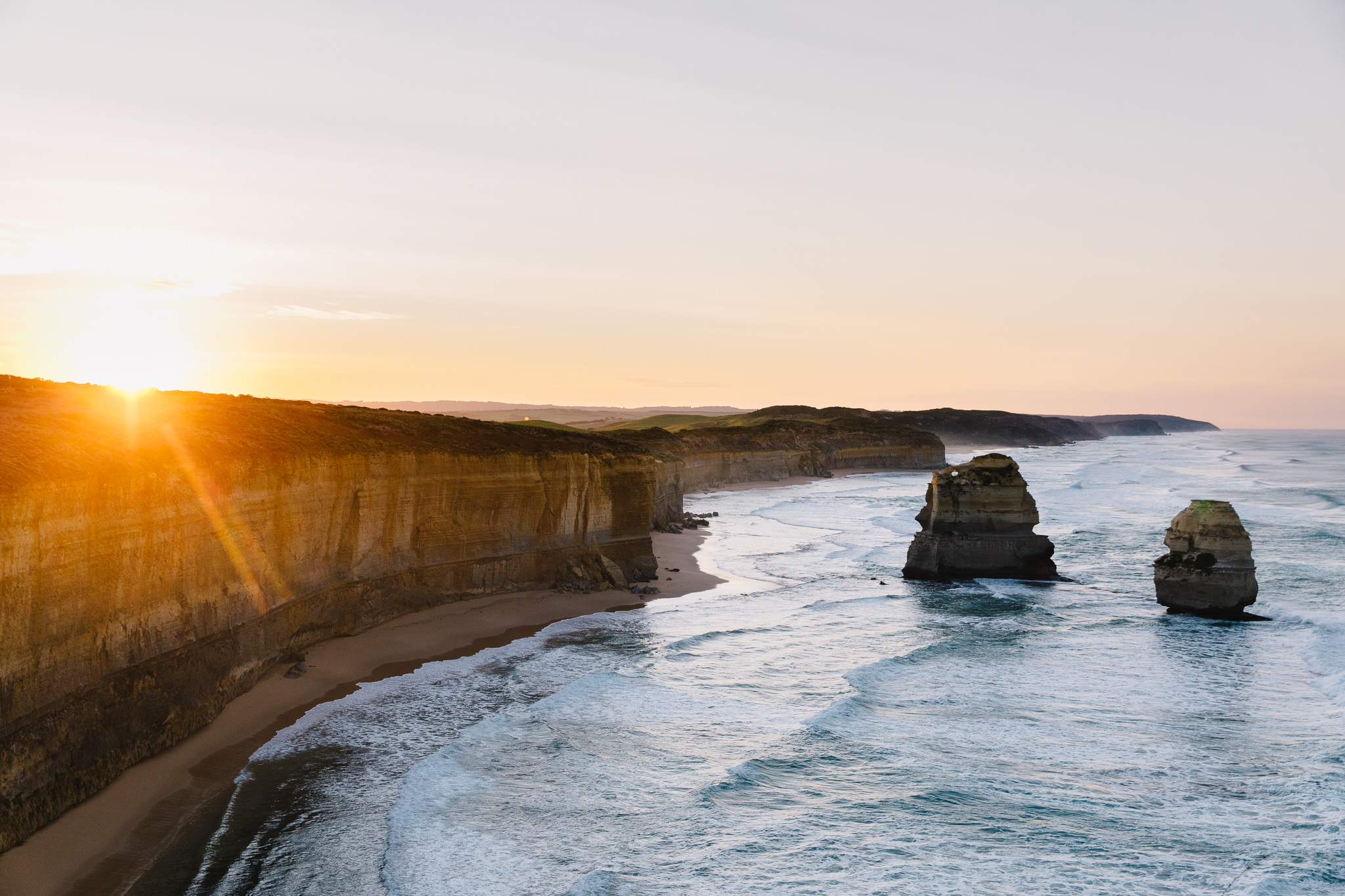 Sunrise at the Twelve Apostles on the Great Ocean Road in Australia