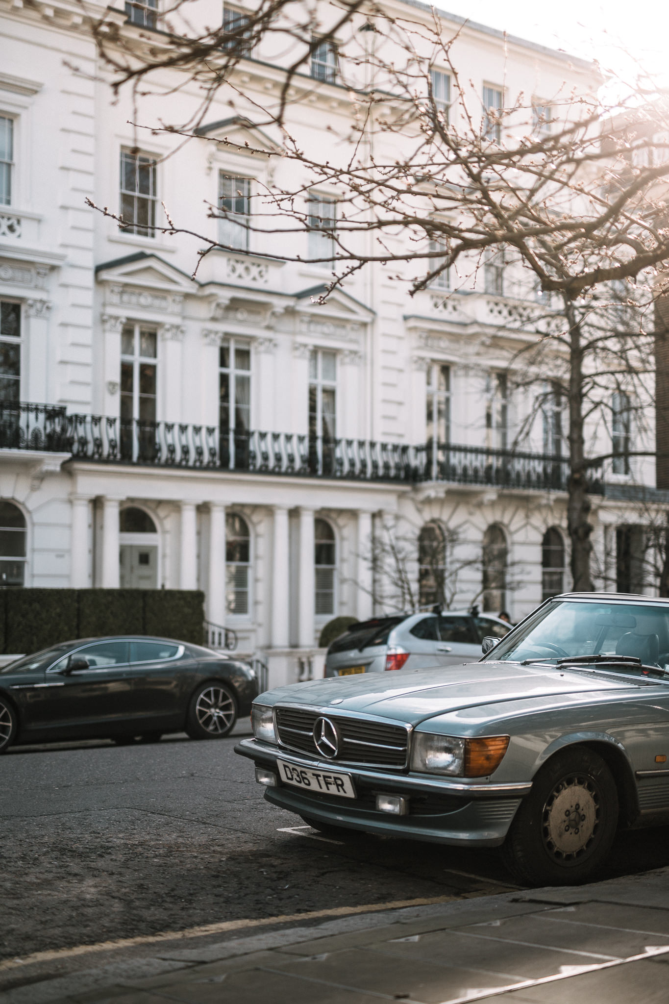 old mercedes benz in west london england