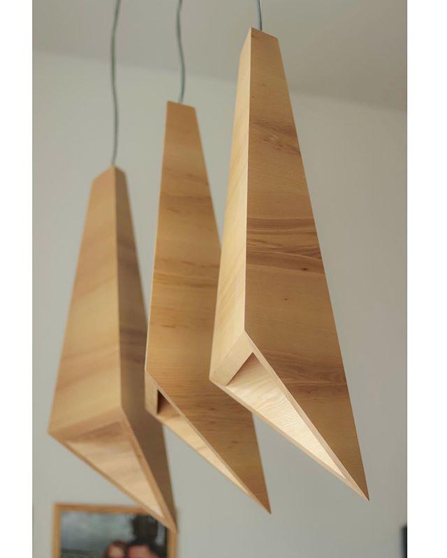 It's not always the case, but sometimes wood — is all you need. . Sharp Ash pendants by @skelddesign  Solid ash and nothing more. . #lightfixture #luxurylighting #minimalism #pendantlights #lightingideas #lightingdesigner #lightingmanufacturer #bespokelighting