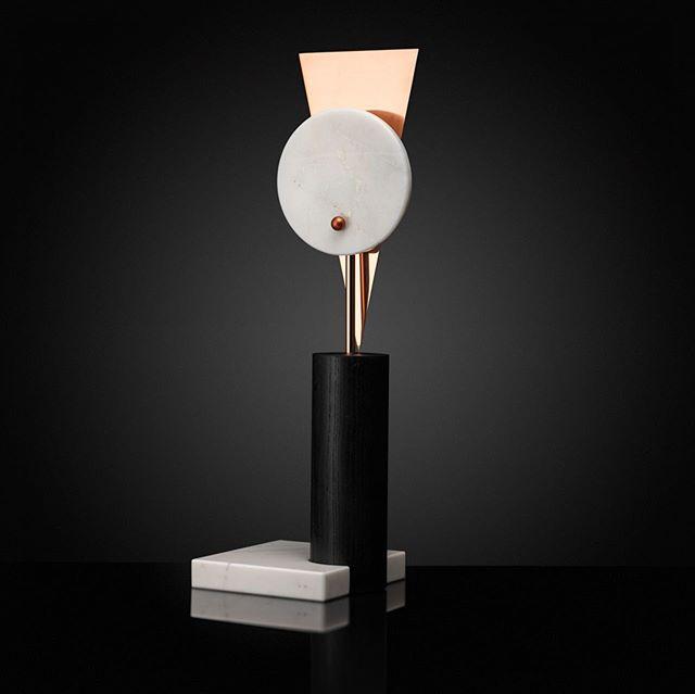 ORACLE table lamp. Materials: marble, onyx, ash wood, copper. . #lightfixture #tablelamps #artobject #luxurylighting #parisdesignweek #parisdesignweek2019 #maïnodesignukraine
