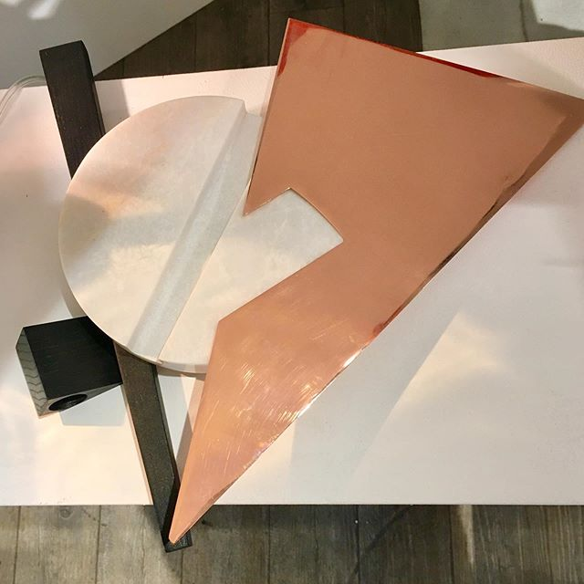 CREST table lamp disassembled. When four pieces is all it takes to make a table lamp.#l . #lighting_design #productdesign #industrialdesigner #prototyping #lightingideas #marbledesign #luxurylighting #parisdesignweek2019