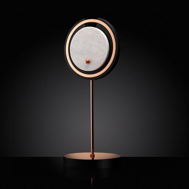 HILMIR table lamp. Materials used: polished copper, marble, ash hard wood. . #tablelamps #lightingideas #designconcept #productdesigner #interiorlighting #lightingconcept