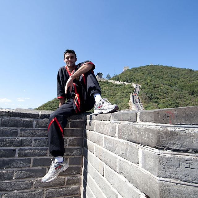 Relaxing on the Great Wall of China after our performance. Having climbed up high, I find there is always something so special about elevation... Each mountain has its own unique flavour, which you can feel if you just sit there silently and listen to it... Away from the crowds, the peace and serenity was so strong here that you could almost touch it