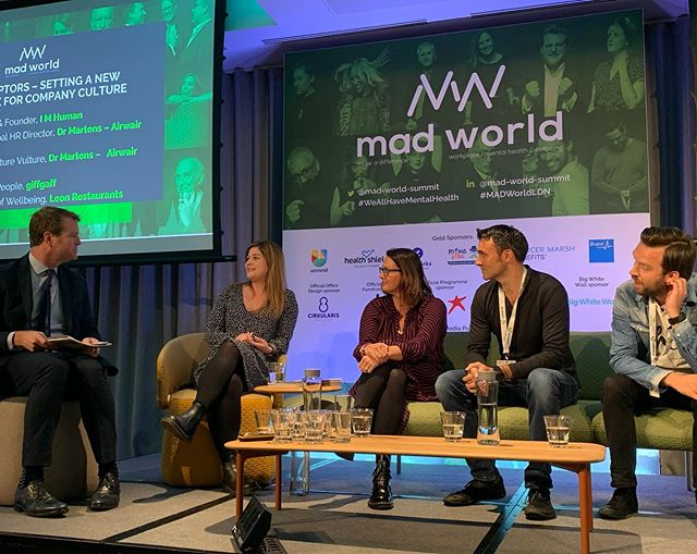 It was an honour to be a part of the 2019 #MadWorldSummit, celebrating the importance of positive mental health and how we make it part of our lives and work culture.  Fascinating panel discussion with @giffgaffmobile @drmartensofficial
