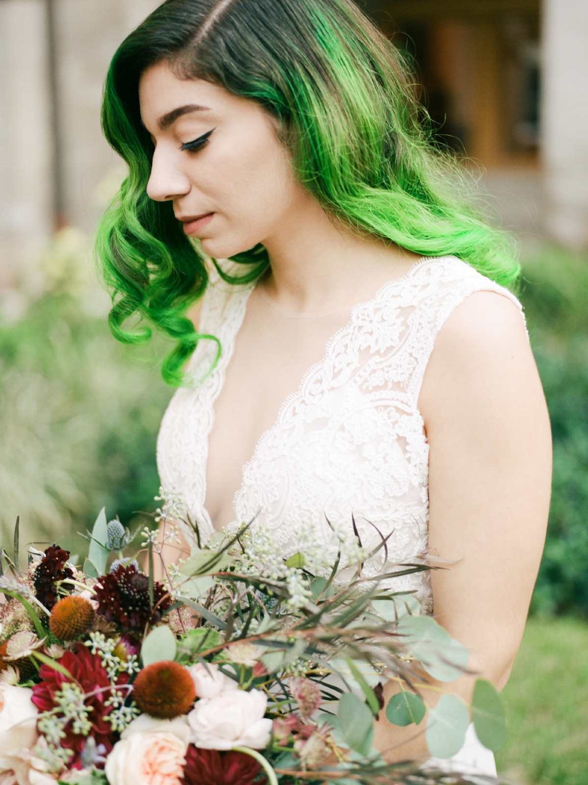 Bride With Green Hair | West Palm Beach Wedding Photographer  Shannon Griffin_0035.jpg
