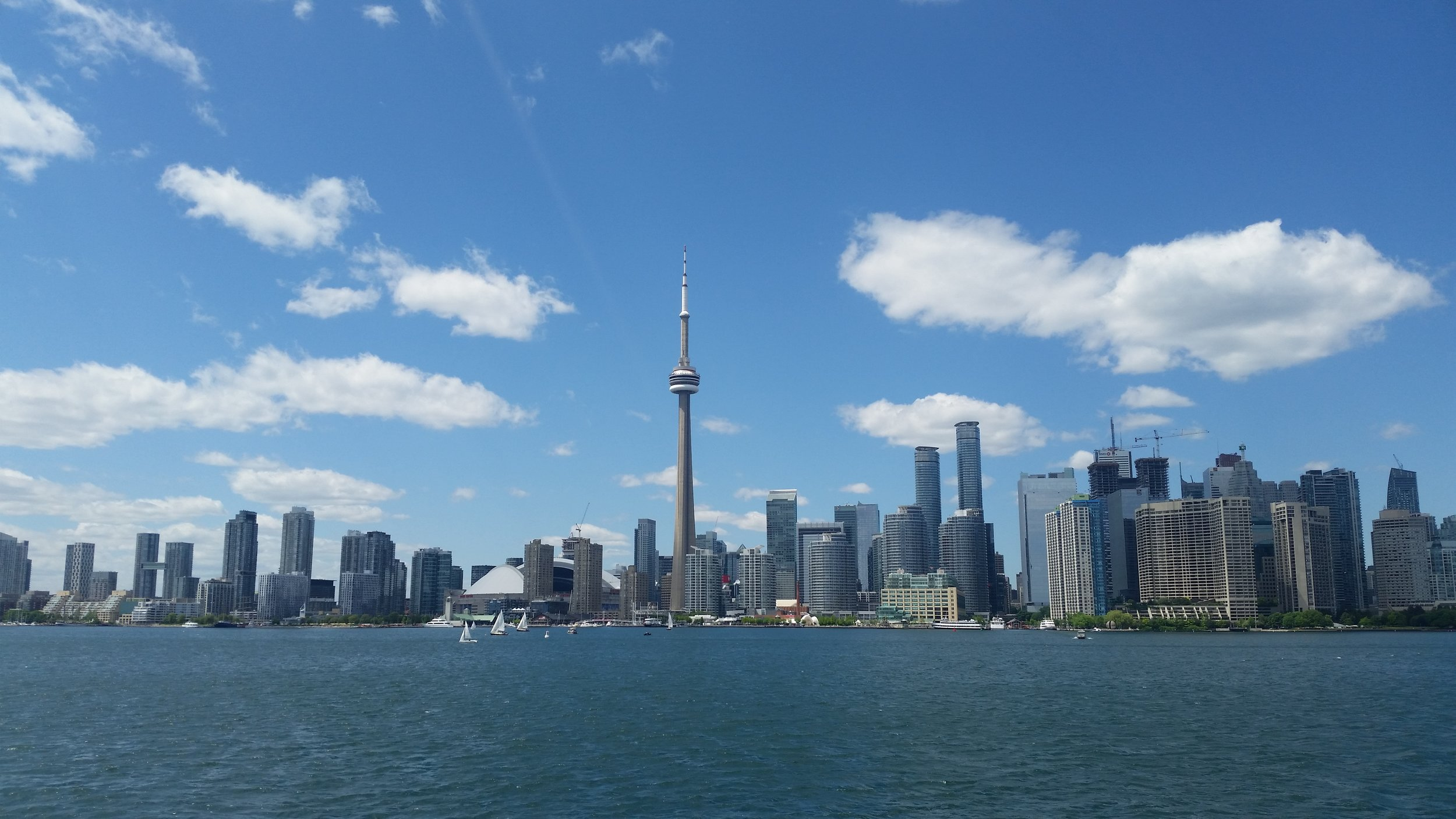 Toronto as viewed from a ferry