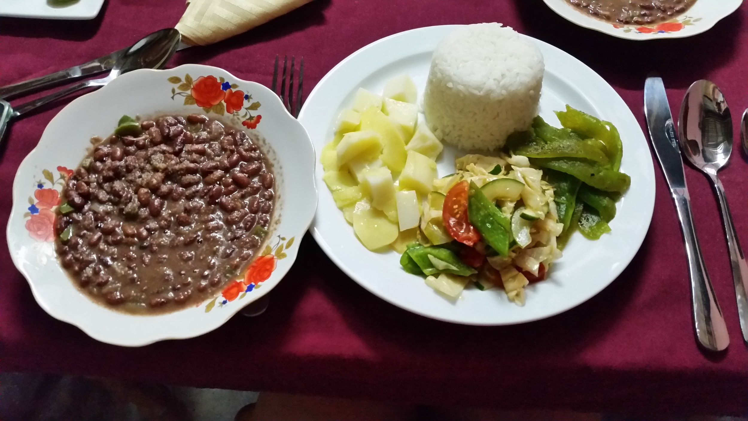 Dinner at a casa particular offers more variety